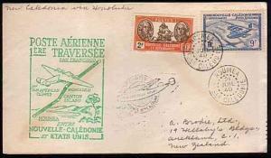 NEW CALEDONIA 1940 first flight cover to Honolulu, Hawaii.......33381