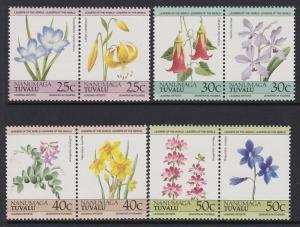 Tuvalu Nanumaga 1985 Flowers 33-36 MNH