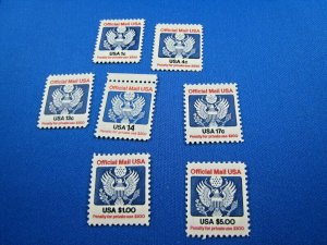 UNITED STATES  -  SCOTT # O127-O133     MNH COMPLETE SET OFFICIALS   (us128)