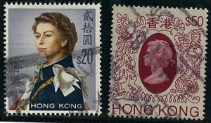 Hong Kong #217&403a Two Scarce HiValues USED 1962 $20 & 1985 $50
