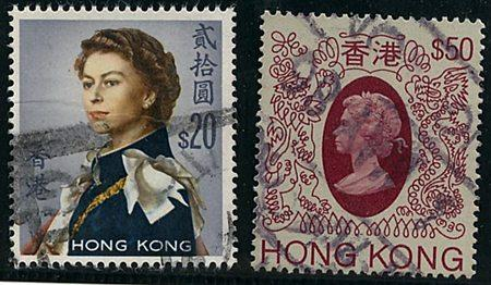 Hong Kong #217&403a Two Scarce HiValues USED 1962 $20 & 1985 $50