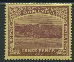 Dominica -Scott 40 - KEVII Definitive Issue -1907 - MH - Single 3p Stamp
