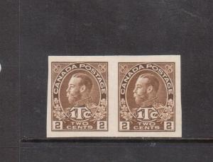 Canada #MR4b Extra Fine Mint Imperf Pair Unused (No Gum As Issued)