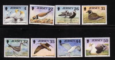 Jersey Sc 864-71 1998 Sea Bird stamp set mint NH