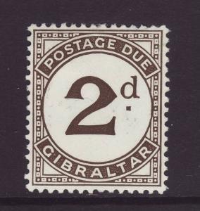 1956 Gibraltar 2d Postage Due Mint