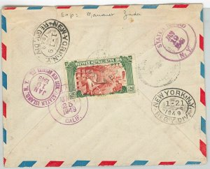45116 - AOF  NIGER -  POSTAL HISTORY: REGISTERED COVER from Madaoua to USA 1948