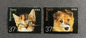 US 2002 Neuter and Spay singles 3670 & 3671