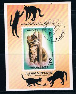 Ajman Used S/S Lovely Kitten 1971