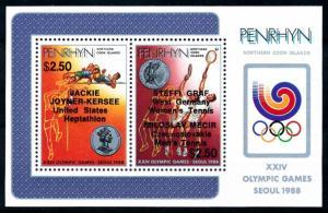 [92280] Penrhyn Cook Isl. 1988 Olympic Games Seoul Athletics OVP Sheet MNH