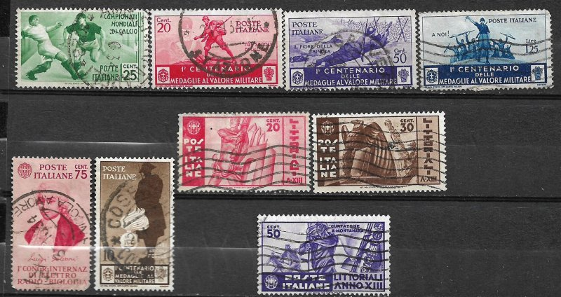 COLLECTION LOT OF # 837 ITALY 9 STAMPS 1934+ CV+$35