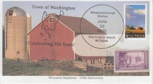 2000 Wisconsin Sesquicentennial Washington Pictorial Cancel