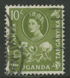 Kenya & Uganda - Scott 121 - QEII Definitive -1960 - Used - Single 10c Stamp