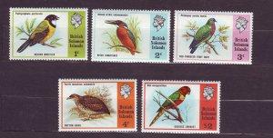 J23743 JLstamps 1975 solomon islands set mh #280-4 birds