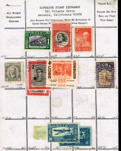 CUBA STAMP USED Stamps Collection Lot #2
