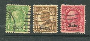 1929 issue #669, 670, 671 NEBR OVPTS ⭐⭐⭐⭐⭐⭐