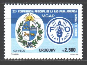 Uruguay. 1992. 1956. Food and Agriculture Organization. MNH.