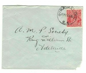 APH1463) Australia 1930 2d Red KGV Die III Small Cover