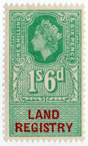 (I.B) Elizabeth II Revenue : Land Registry 1/6d (1960)