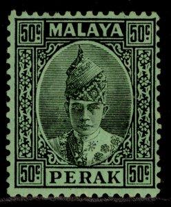 MALAYSIA - Perak GVI SG118, 50c black/emerald, M MINT. Cat £32.
