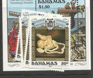 Bahamas SC 1989 Columbus 663-7 MNH (8cri)