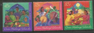 COCOS ISLANDS,316-318, MNH, FESTIVE SEASON