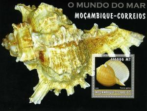 Mozambique 2002 Marine Life Mollusc s/s Perforated mnh.vf