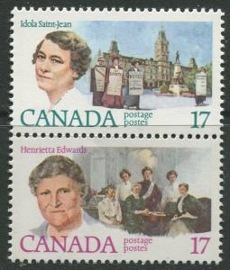 STAMP STATION PERTH Canada #881-882 Famous women 1981 MNH Pair CV$0.70