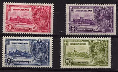 Newfoundland - USC #226-9 1935 Silver Jubilee Complete Set mint VF-NH Cat. $50.