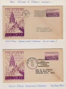 1935 Sc 773-30 California Pacific Expo 1st Watson cachets CV $50