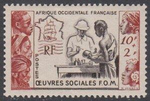 French West Africa B3 MVLH CV $9.50