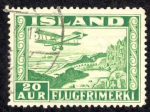 Iceland Sc# C16 Used 1934 20a Air Mail
