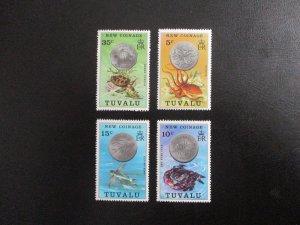 Tuvalu #19-22 Mint Never Hinged (N7M4) - Stamp Lives Matter!