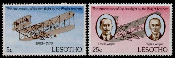 Lesotho 260-1 MNH Orville & Wilbur Wright, Flyer 1, Aircraft