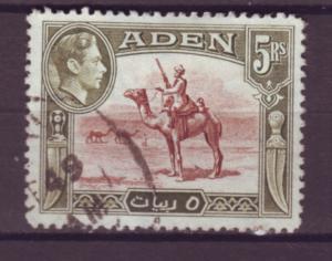 J20857 Jlstamps 1939-48 aden used #26 camel corpsman