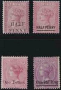 Mauritius 1876-1877 SC 46-49 MLH Set