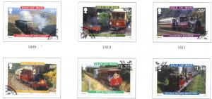 Isle of Man Sc 1381-6 2010 Railways Trams stamp set used