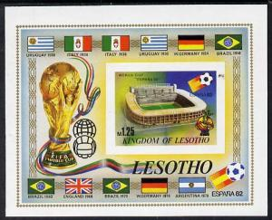 Lesotho 1982 Flags of Winning Nations - World Cup Footbal...