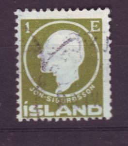 J19117 Jlstamps 1911 iceland used #86 sigurdsson
