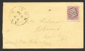 Doyle's_Stamps: Eaton, NY, to Westborough, MA, Postal History Cover w/CDS ++