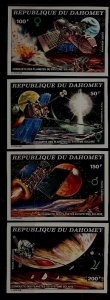 Dahomey C238-41 MNH imperf. Space