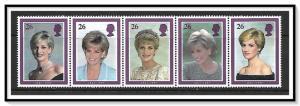 Great Britain #1791-1795 Princess Diana Strip of 5 MNH