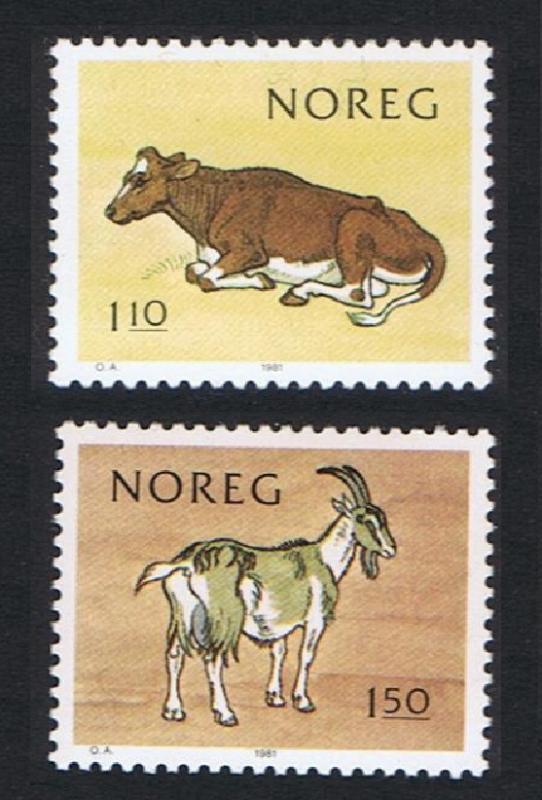 Norway Cow Goat 2v SG#873-874 MI#834-835 SC#779-780