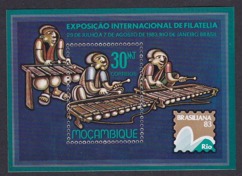 Mozambique Brasiliana 83 International Stamp Exhibition MS SG#MS1015 SC#878