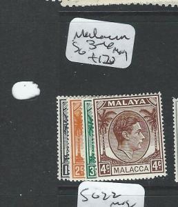 MALAYA MALACCA  (P0210B) KGVI SG 3-6  MOG