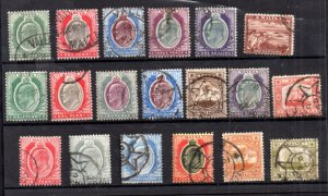 Malta KEVII 1903-1907 fine used collection x 19V WS20984