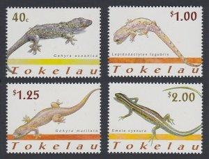 2001 Tokelau 298-301 Reptiles 6,50 €