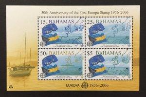 Bahamas 2005 #1153a S/S, Europa 50th Anniversary, MNH.