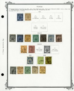 Tunisia Clean 1800s to 1940 Popular Stamp Collection