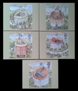 STAMP STATION PERTH G.B. PHQ Cards No.172 - Set of 5 - Shakespeare Mint 1995