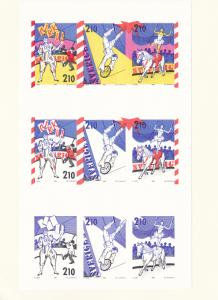 Sweden 1987 circus colour progression special printing stamps booklet  R19972